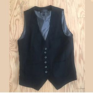 MNG COLLECTION Z26 Solid Black Vest Size 6